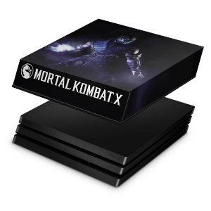 PS4 Pro Capa Anti Poeira - Mortal Kombat X - Sub Zero