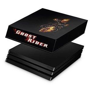 PS4 Pro Capa Anti Poeira - Ghost Rider #A