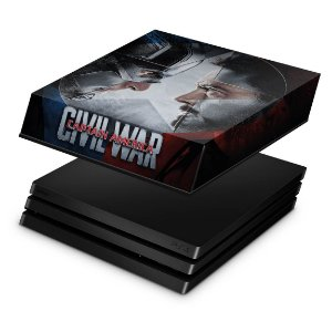 PS4 Pro Capa Anti Poeira - Capitão America - Guerra Civil