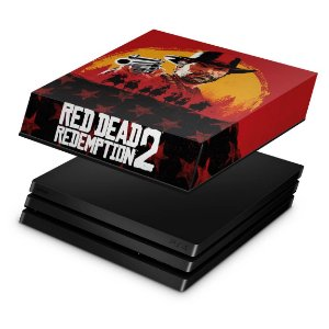 PS4 Pro Capa Anti Poeira - Red Dead Redemption 2