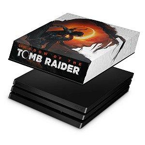 PS4 Pro Capa Anti Poeira - Shadow Of The Tomb Raider