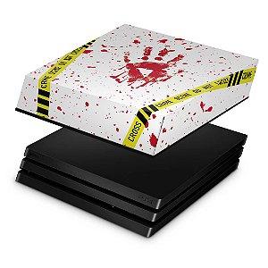 PS4 Pro Capa Anti Poeira - Cena de Crime Scene