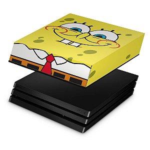 PS4 Pro Capa Anti Poeira - Bob Esponja