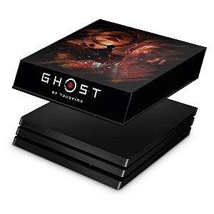 PS4 Pro Capa Anti Poeira - Ghost of Tsushima