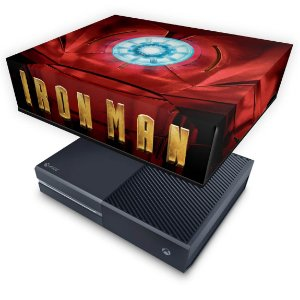 Xbox One Fat Capa Anti Poeira - Iron Man - Homem de Ferro