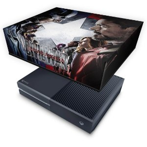 Xbox One Fat Capa Anti Poeira - Capitão America - Guerra Civil