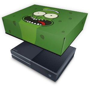 Xbox One Fat Capa Anti Poeira - Pickle Rick and Morty