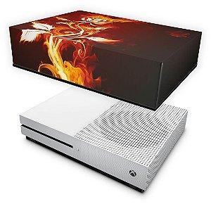 Xbox One Slim Capa Anti Poeira - Fire Flower