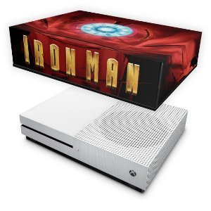 Xbox One Slim Capa Anti Poeira - Iron Man - Homem de Ferro