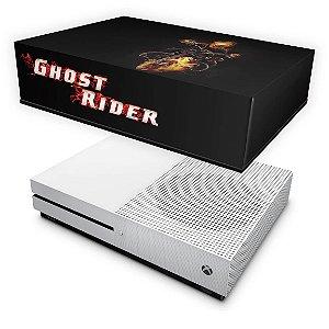 Xbox One Slim Capa Anti Poeira - Ghost Rider - Motoqueiro Fantasma #A