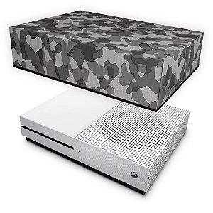 Xbox One Slim Capa Anti Poeira - Camuflagem Cinza