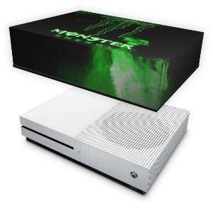 Xbox One Slim Capa Anti Poeira - Monster Energy Drink