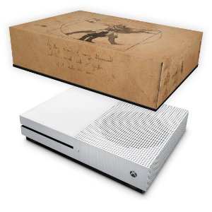 Xbox One Slim Capa Anti Poeira - Assassin's Creed Vitruviano