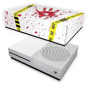 Xbox One Slim Capa Anti Poeira - Cena de Crime Scene