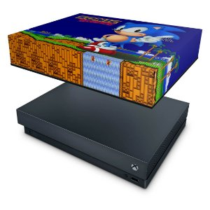 Xbox One X Capa Anti Poeira - Sonic The Hedgehog