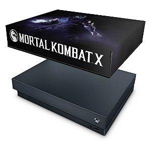 Xbox One X Capa Anti Poeira - Mortal Kombat X - Subzero