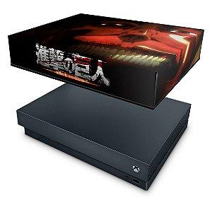 Xbox One X Capa Anti Poeira - Attack on Titan #B