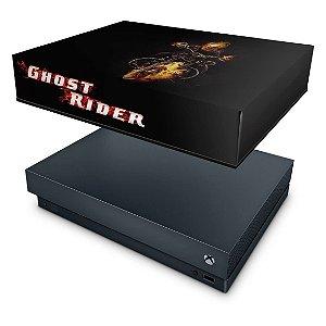Xbox One X Capa Anti Poeira - Ghost Rider - Motoqueiro Fantasma #A