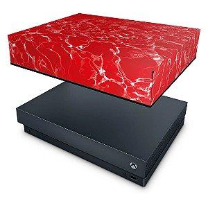 Xbox One X Capa Anti Poeira - Aquático Água Vermelha