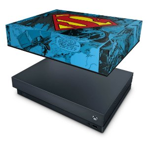 Xbox One X Capa Anti Poeira - Super Homem Superman Comics