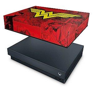 Xbox One X Capa Anti Poeira - Mulher Maravilha Comics