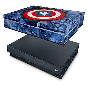 Xbox One X Capa Anti Poeira - Capitão América Comics