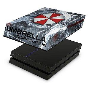 PS4 Fat Capa Anti Poeira - Resident Evil Umbrella
