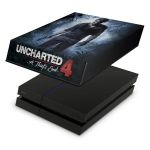 PS4 Fat Capa Anti Poeira - Uncharted 4