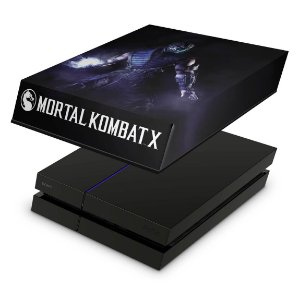 PS4 Fat Capa Anti Poeira - Mortal Kombat X - Sub Zero
