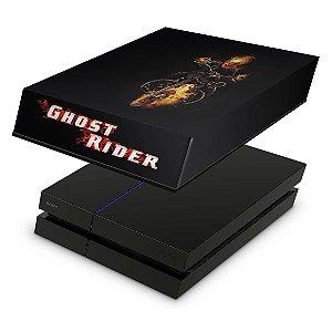 PS4 Fat Capa Anti Poeira - Ghost Rider #A