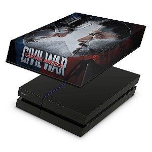 PS4 Fat Capa Anti Poeira - Capitão America - Guerra Civil