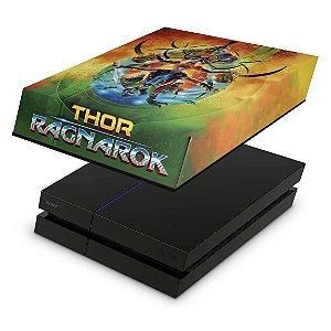 PS4 Fat Capa Anti Poeira - Thor Ragnarok