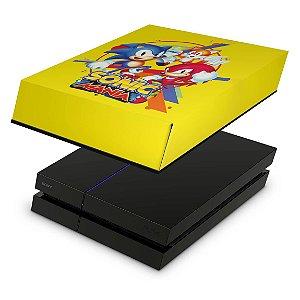 PS4 Fat Capa Anti Poeira - Sonic Mania