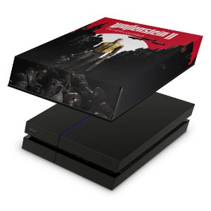 PS4 Fat Capa Anti Poeira - Wolfenstein 2 New Order