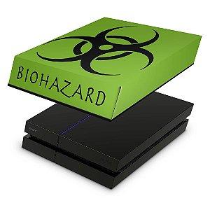 PS4 Fat Capa Anti Poeira - Biohazard Radioativo