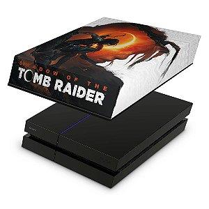PS4 Fat Capa Anti Poeira - Shadow Of The Tomb Raider