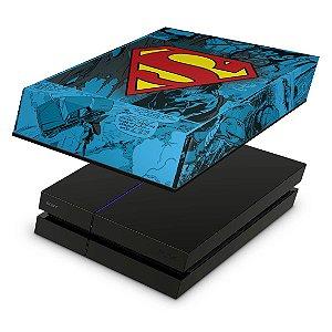 PS4 Fat Capa Anti Poeira - Super Homem Superman Comics