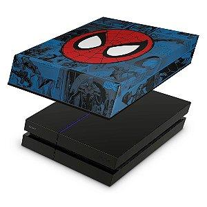 PS4 Fat Capa Anti Poeira - Homem-Aranha Spider-Man Comics