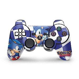 PS3 Controle Skin - Sonic Hedgehog