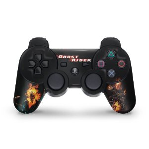 PS3 Controle Skin - Ghost Rider Motoqueiro #a