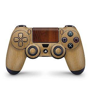 Skin PS4 Controle - Textura Madeira