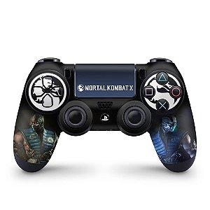 Skin PS4 Controle - Mortal Kombat X - Sub Zero