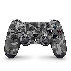 Skin PS4 Controle - Camuflagem Cinza