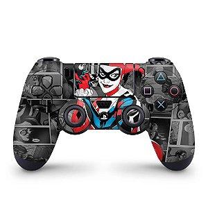 Skin PS4 Controle - Harley Quinn - Arlequina #a