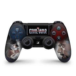 Skin PS4 Controle - Capitão America - Guerra Civil