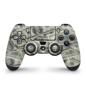 Skin PS4 Controle - Dollar Money Dinheiro