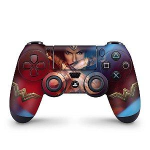 Skin PS4 Controle - Mulher Maravilha