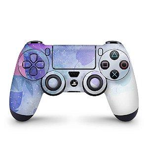 Skin PS4 Controle - Folhas Lilás