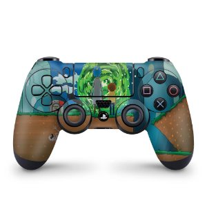 Skin PS4 Controle - Rick And Morty Mario
