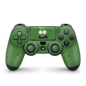 Skin PS4 Controle - Pickle Rick and Morty
